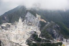 De Marmeren steengroeven van Carrara Royalty-vrije Stock Afbeeldingen