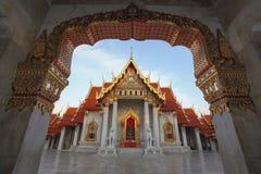 De Marmeren Tempel, Wat Benchamabopitr Dusitvanaram Royalty-vrije Stock Afbeeldingen