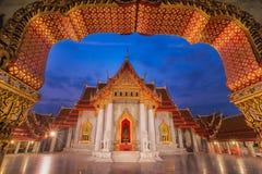 De Marmeren Tempel, Wat Benchamabopitr Dusitvanaram Royalty-vrije Stock Foto's