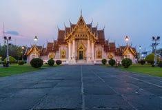 De Marmeren Tempel, Wat Benchamabopitr Dusitvanaram Bangkok THAILAND royalty-vrije stock fotografie