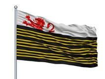 De Marne City Flag On Flagpole, die Niederlande, lokalisiert auf weißem Hintergrund vektor abbildung