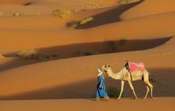 De Marokkaanse Scène van de Woestijn Royalty-vrije Stock Afbeelding