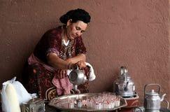 De Marokkaanse Thee van de Munt Stock Foto