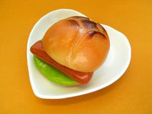 De marsepein van de hamburger. Stock Foto's