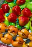 De marsepein van snoepjes stock afbeeldingen