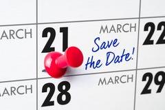 21 de marzo Imágenes de archivo libres de regalías