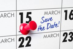 15 de marzo Fotografía de archivo libre de regalías
