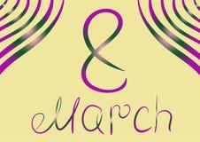 8 de marzo Fotografía de archivo libre de regalías