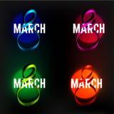 8 de marzo cinta Imagen de archivo