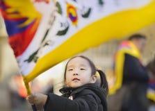 10 de marzo día 2017 de la sublevación en Tíbet, Berna Suiza Fotografía de archivo libre de regalías