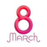 8 de marzo, día internacional del ` s de las mujeres, ejemplo del vector Foto de archivo libre de regalías