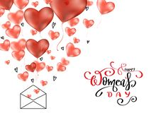 8 de marzo día para mujer con poner letras al texto ilustración del vector