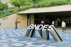 25 de marzo de 2015 - BNDES (banco propiedad del gobierno de Brazils del desarrollo) establece jefatura en Rio de Janeiro Foto de archivo