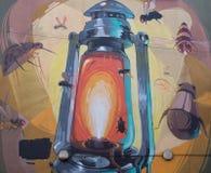 9 de marzo de 2017, Brighton, Reino Unido Arte de la calle del artista Br del graffitti Foto de archivo