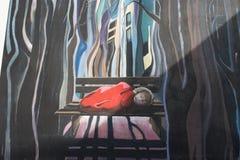 9 de marzo de 2017, Brighton, Reino Unido Arte de la calle del artista Br del graffitti Imagen de archivo libre de regalías