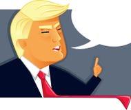 19 de marzo de 2017 ejemplo del vector de Donald Trump stock de ilustración