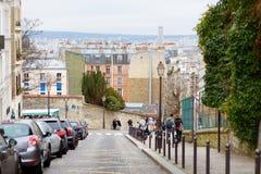 1 DE MARZO DE 2015 - PARÍS: Carril en el centro de París Imagen de archivo libre de regalías