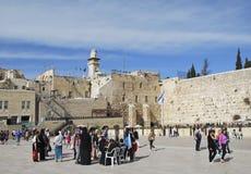 26 DE MARZO DE 2015 Pared occidental jerusalén Imagen de archivo