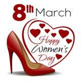 8 de marzo Diseño para mujer feliz del día Fotos de archivo libres de regalías