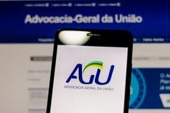 10 de marzo de 2019, el Brasil Logotipo del fotos de archivo libres de regalías