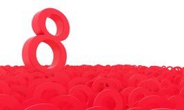 8 de marzo el día de las mujeres Fondo colorido de los números Fotos de archivo libres de regalías