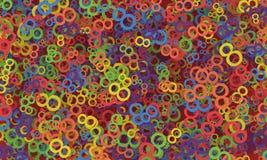 8 de marzo el día de las mujeres Fondo colorido de los números Fotografía de archivo