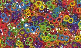 8 de marzo el día de las mujeres Fondo colorido de los números Imagenes de archivo