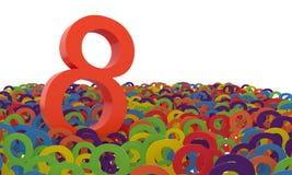 8 de marzo el día de las mujeres Fondo colorido de los números Fotografía de archivo libre de regalías