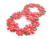 8 de marzo el día de las mujeres internacionales, 3D Imagen de archivo libre de regalías