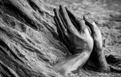 20 de marzo de 2019 - escultura de 'Helder de Carvalho ', 500 años de Santa Casa da Misericordia, Braga fotografía de archivo libre de regalías