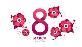 8 de marzo feliz Día del `s de las mujeres libre illustration