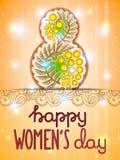 8 de marzo fondo del día de las mujeres internacionales Foto de archivo
