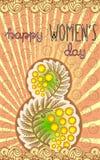 8 de marzo fondo del día de las mujeres internacionales Foto de archivo libre de regalías