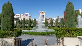3 de marzo de 2019 - fuente de agua de Las Vegas, Nevada - de Cesar del palacio fotografía de archivo libre de regalías