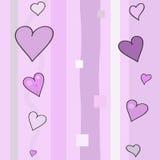 8 de marzo modelo de los corazones Imagen de archivo