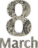 8 de marzo negro Foto de archivo