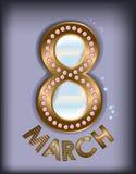 8 de marzo perlas Fotos de archivo libres de regalías