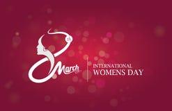 8 de marzo plantilla para mujer del día Foto de archivo libre de regalías