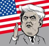 22 de marzo de 2018: Retrato de Donald Trump Ilustración del vector EPS10 Uso editorial solamente stock de ilustración