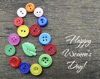 8 de marzo símbolo del día de las mujeres internacionales Imagen de archivo