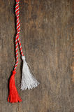 1 de marzo símbolos tradicionales de la baratija del amor Imagen de archivo