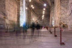 3 de marzo Slanic Rumania, mina de sal de Unirea, galería subterráneo de la tubería Foto de archivo