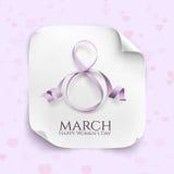8 de marzo tarjeta de felicitación Fotos de archivo