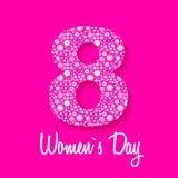 8 de marzo tarjeta de felicitación Fondo para el día de la mujer Foto de archivo