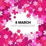 8 de marzo tarjeta de felicitación internacional del día de las mujeres Fotografía de archivo libre de regalías