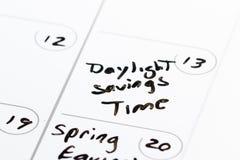 13 de marzo, tiempo del horario de verano Fotos de archivo