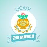 28 de marzo ugadi Foto de archivo libre de regalías