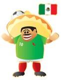 De mascotte Mexico van de voetbal stock illustratie