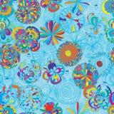 De mascotte naadloos patroon van het bloemwater Royalty-vrije Stock Fotografie