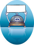 De mascotte van de de dienstklok vector illustratie